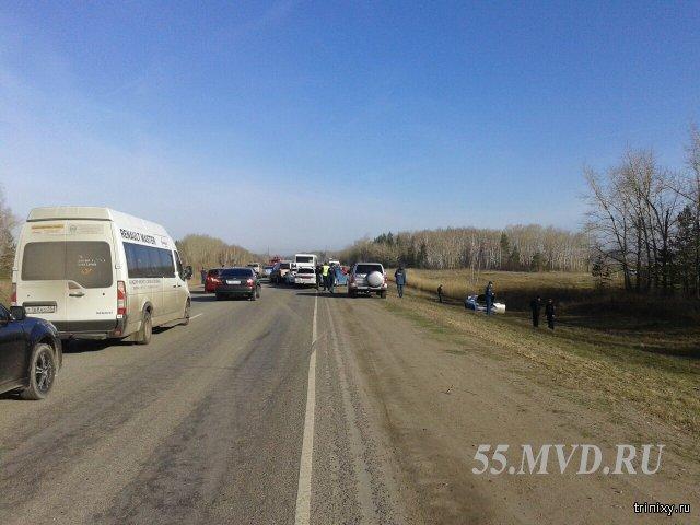 ДТП под Омском, 14 автомобилей