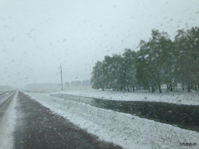 В Челябинской области в мае пошел снег