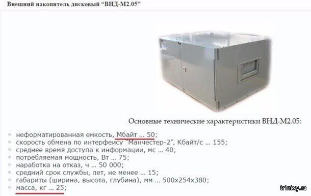 Как поколение ЕГЭ смеялось над 25-килограмовым диском на 50 мегабайт