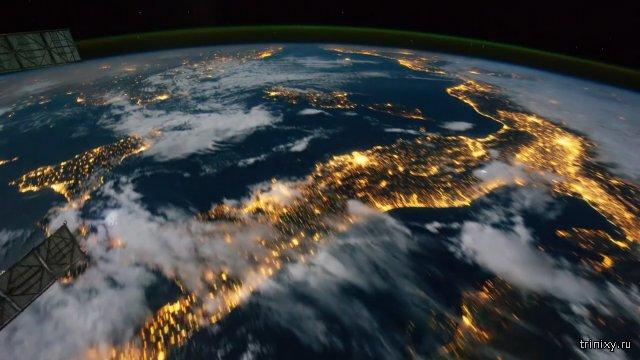 Вид из космоса - Страны и Континенты Земли.МКС NASA