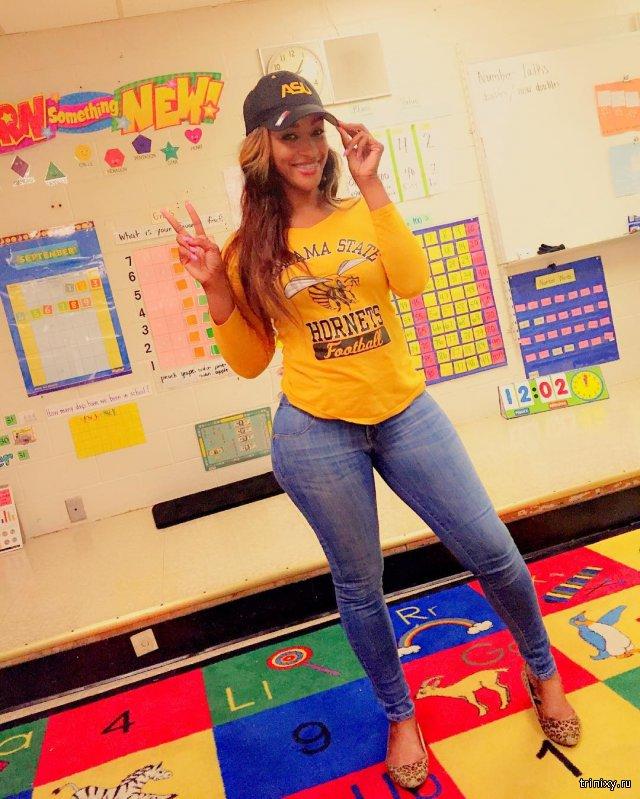 Плохая училка: Американскую преподавательницу критикуют за откровенные наряды