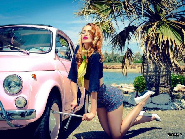 Красивые девушки и автомобили!