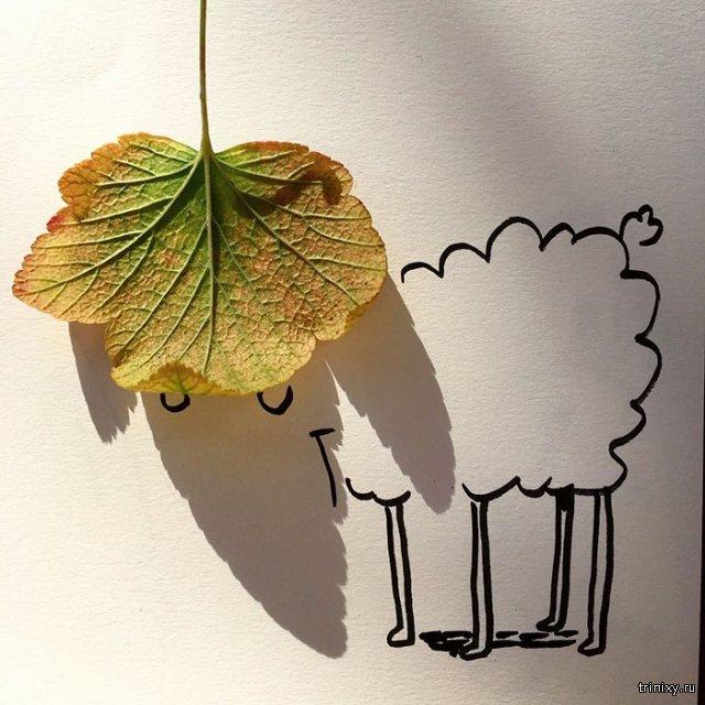 10 рисунков с помощью теней