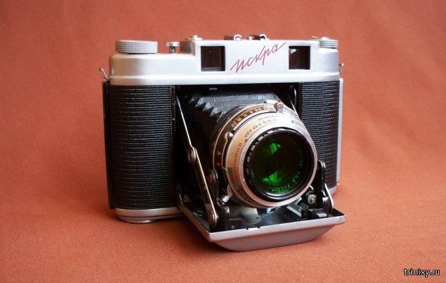 Коллекция старых фотоаппаратов