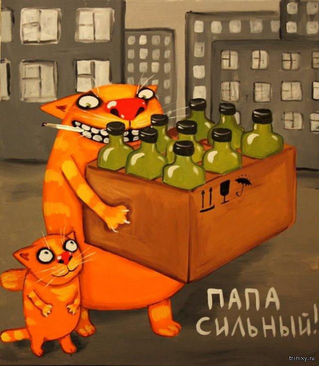 Вася Ложкин- котохудожник