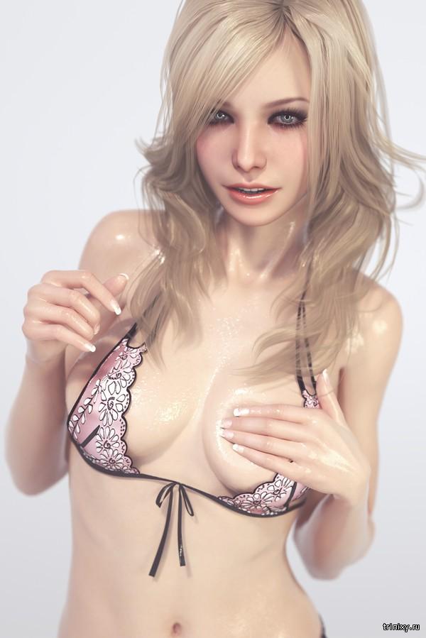Реалистичные 3D-рисунки красивых девушек