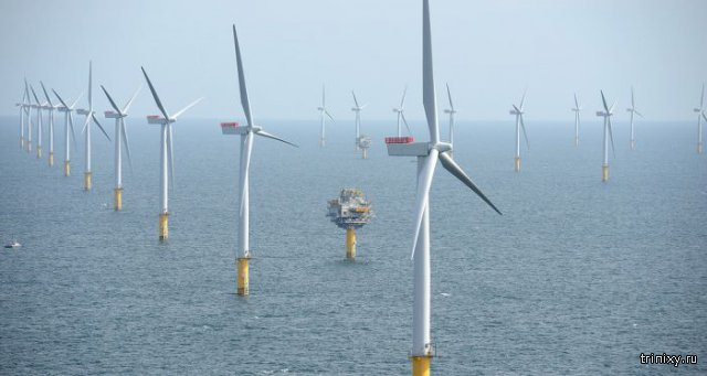 Ветроэлектроферма. Устье Темзы, Великобритания