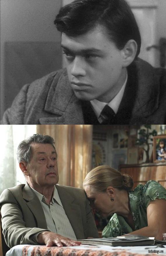 Российские актеры в начале своей карьеры и сейчас