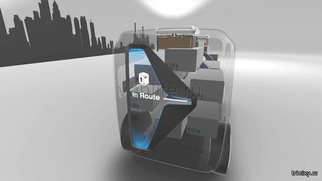 Ford представил концепт автономного фургона FedEx с беспилотниками