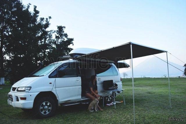 Превращение Mitsubishi Delica в уютный домик на колёсах