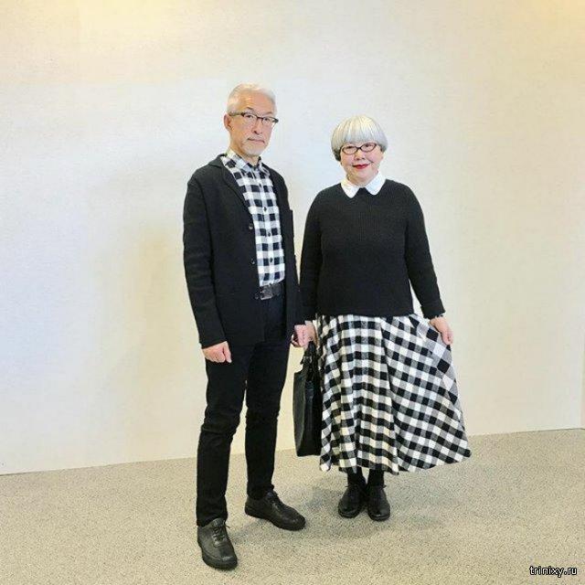 Стильная пожилая пара из Японии