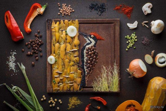 Потрясающие картины, сделанные из обычной еды