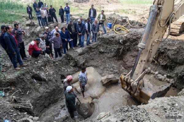 В столице Египта обнаружили статую Рамсеса II, которой уже 3000 лет