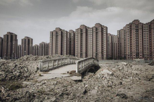 Незаселенные города-призраки в Китае