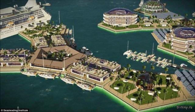 Проект первого в мире города на воде в Тихом океане