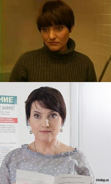 Российские актрисы в начале своей карьеры и в последних фильмах