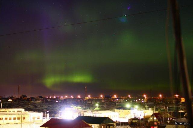 Северное сияние в Якутии