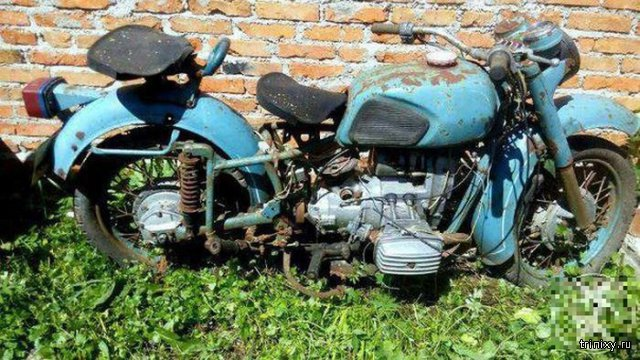 Восстановление старого мотоцикла Днепр
