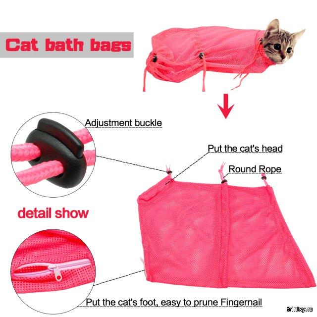 Креативный способ, как помыть своего котика