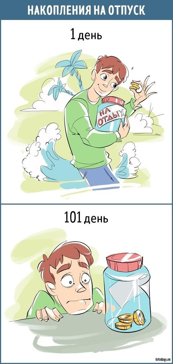 Наше отношение к вещам на 1-й и 101-й день