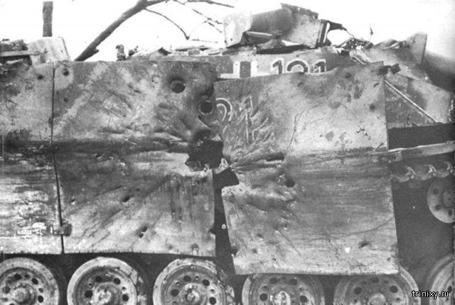 Последствия попадания пушки СУ-152