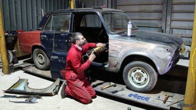 Трудовик из Великобритании коллекционирует советские автомобили