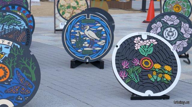 Дорожные люки в разных городах Японии