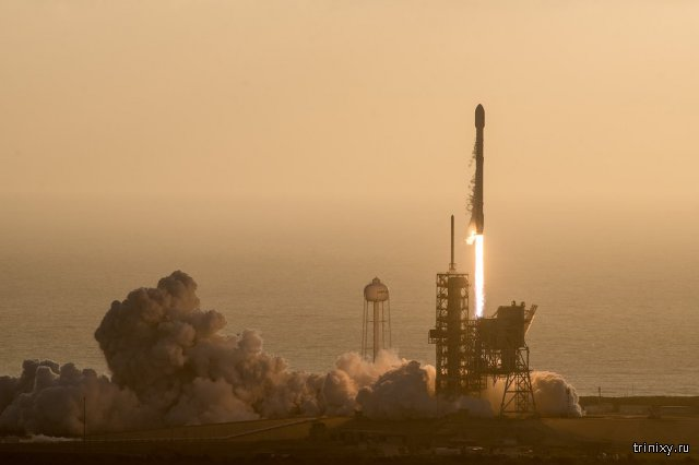 Falcon 9 вывел спутник-шпион на орбиту, а затем успешно приземлился