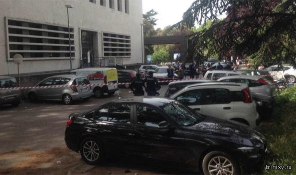 Взрыв в Риме у входа в почтовое отделение возле здания ООН