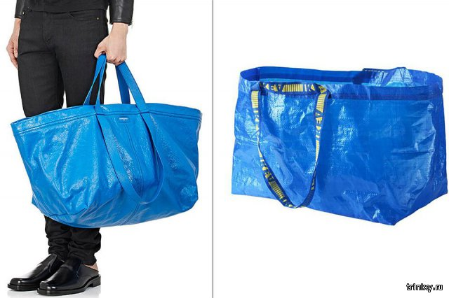 Пользователи сети стали одеваться в стиле сумки IKEA, высмеяв сумку от Balenciaga