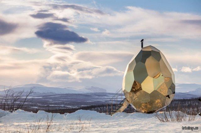 Шведская зеркальная сауна-золотое яйцо