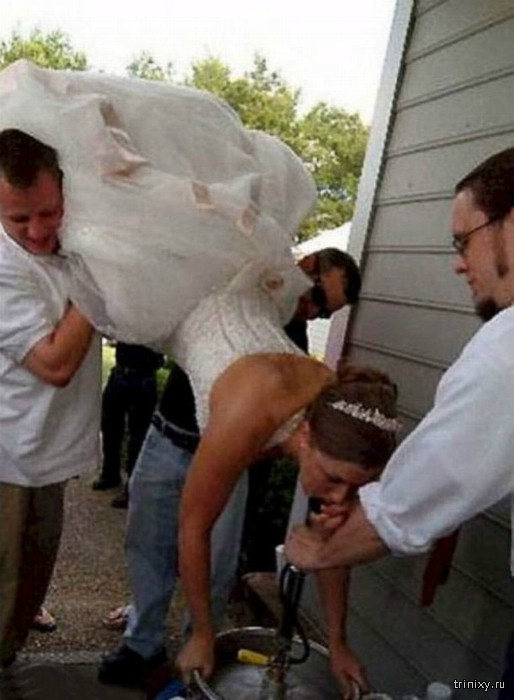 Забавные свадебные фотографии