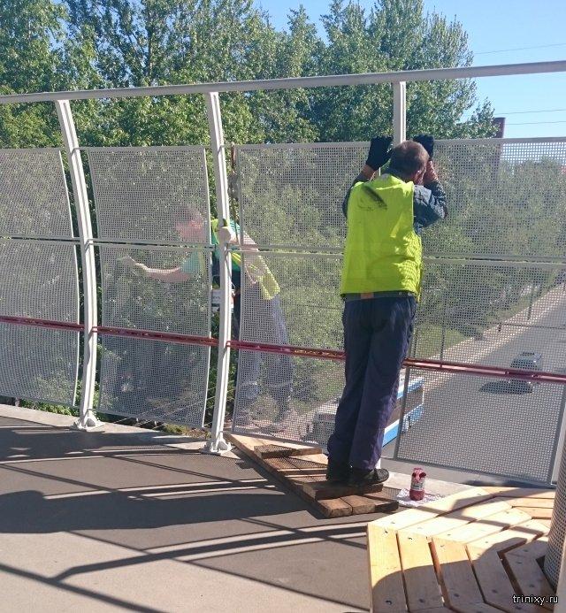 Высокотехнологичная покраска ограды станции