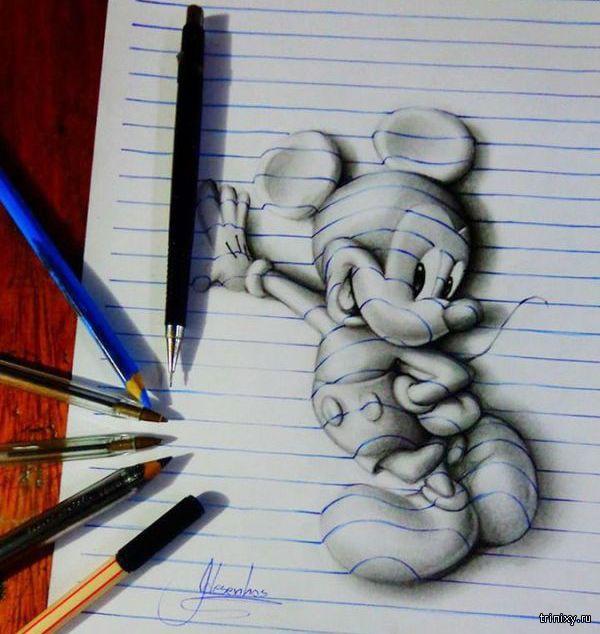 3D рисунки 17-летнего парня