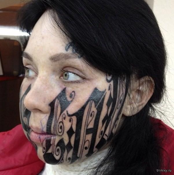 На лице сделать тату на