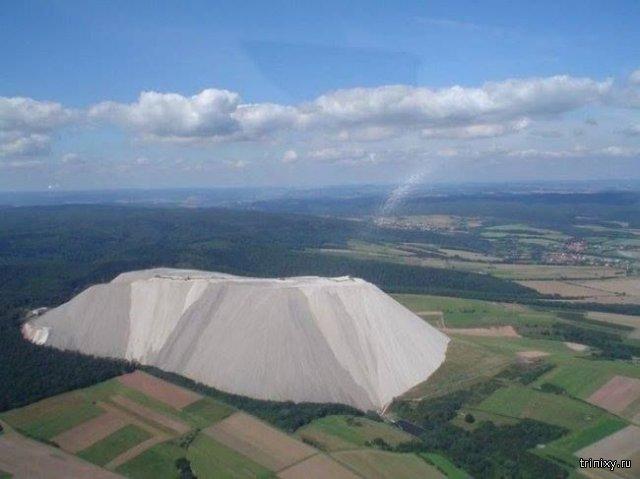 Гора соли в немецком городе Гессен