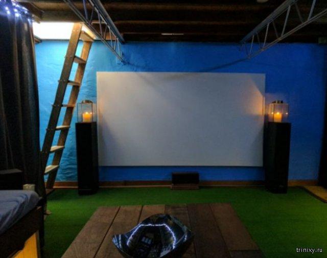 Кинотеатр в подвале дома