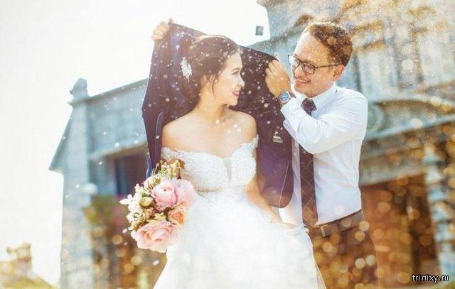 За кадром свадебной фотографии