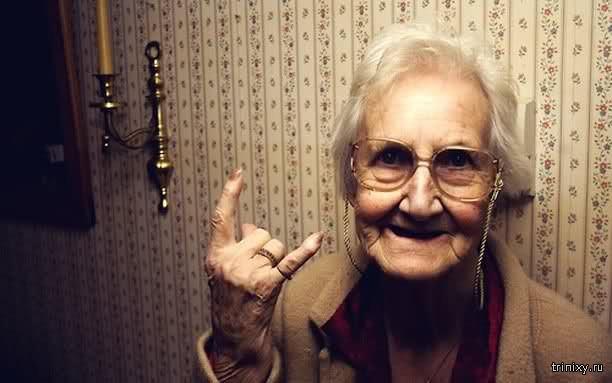 Бабушка современного пацана..