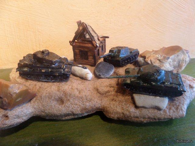 Модели танков из игры World of Tanks ручной работы