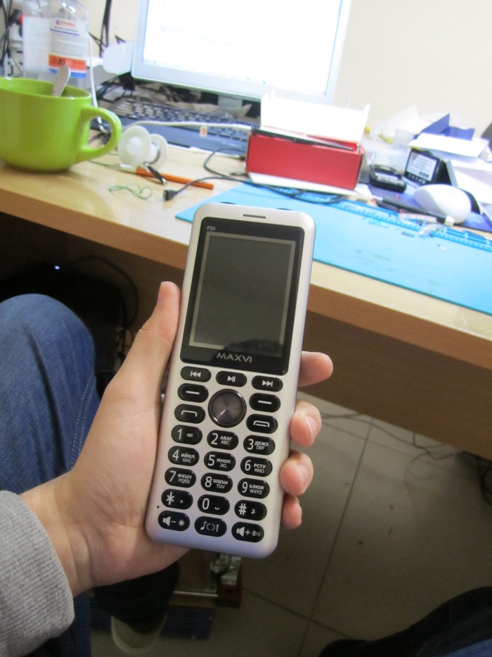 Необычный телефон принесли на ремонт