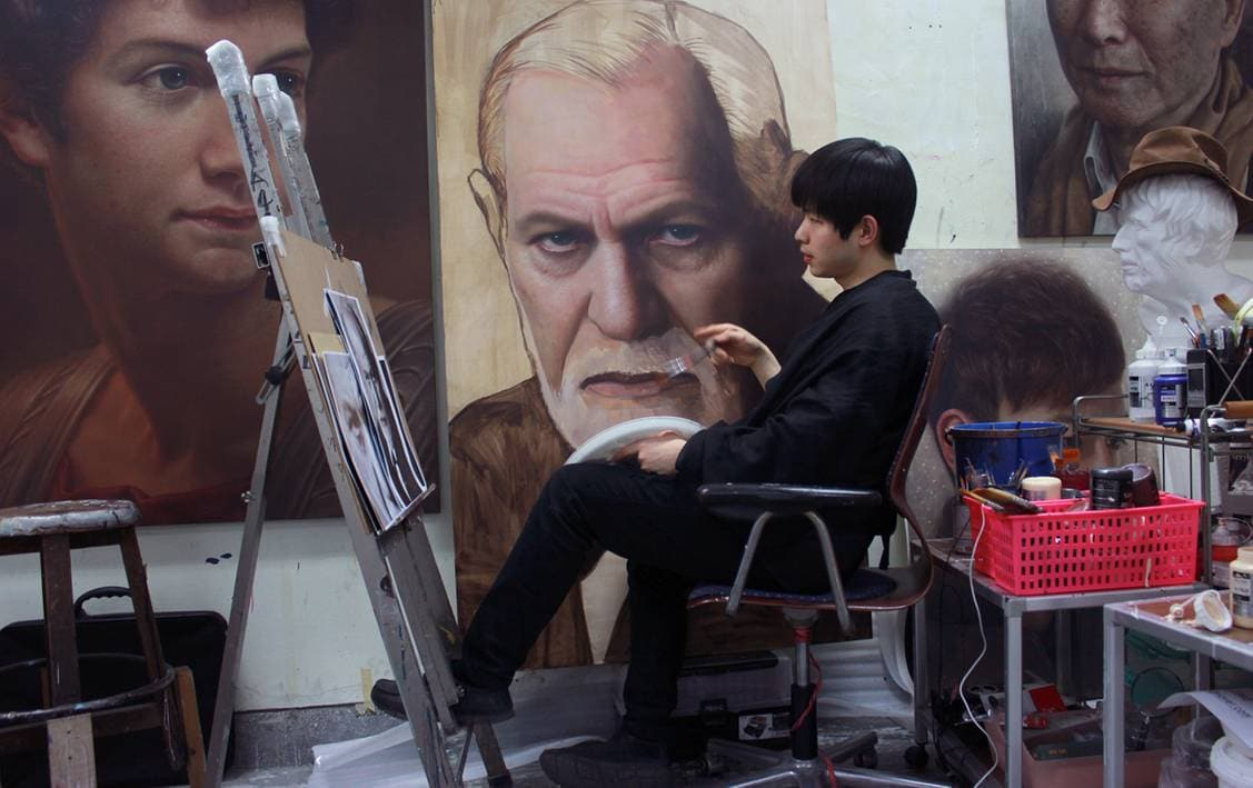 Гиперрреалистичные портреты персонажей известных картин и скульптур