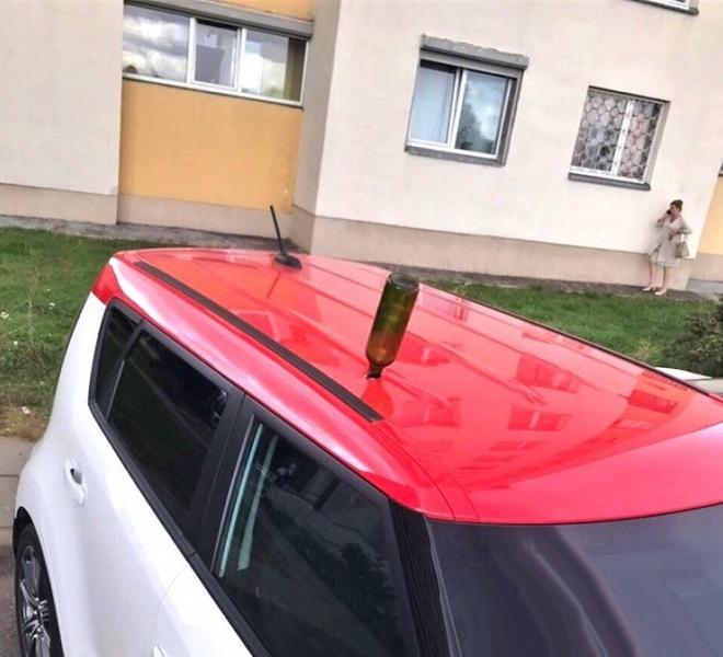 Сюрприз на крыше машины