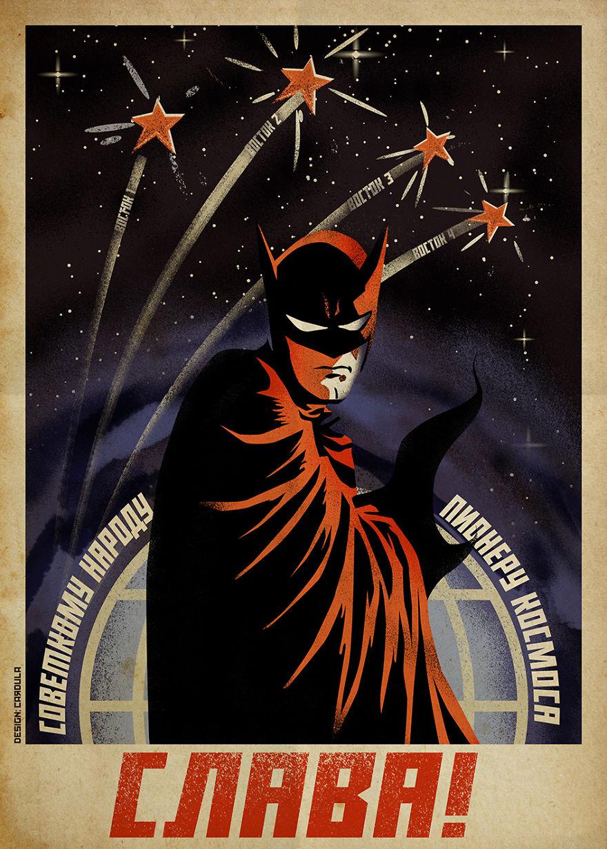Дизайнер из Македонии объединил советские плакаты и героев комиксов