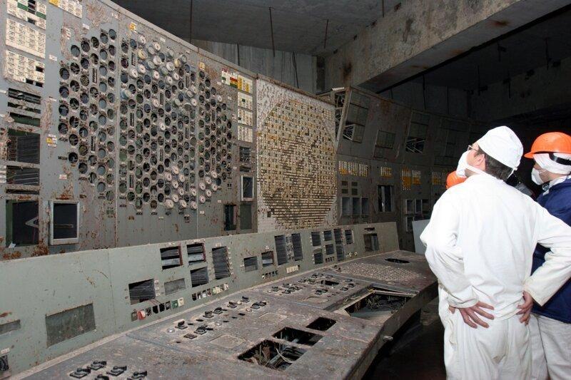 Журналисты опубликовали видео из диспетчерской четвертого энергоблока Чернобыльской АЭС