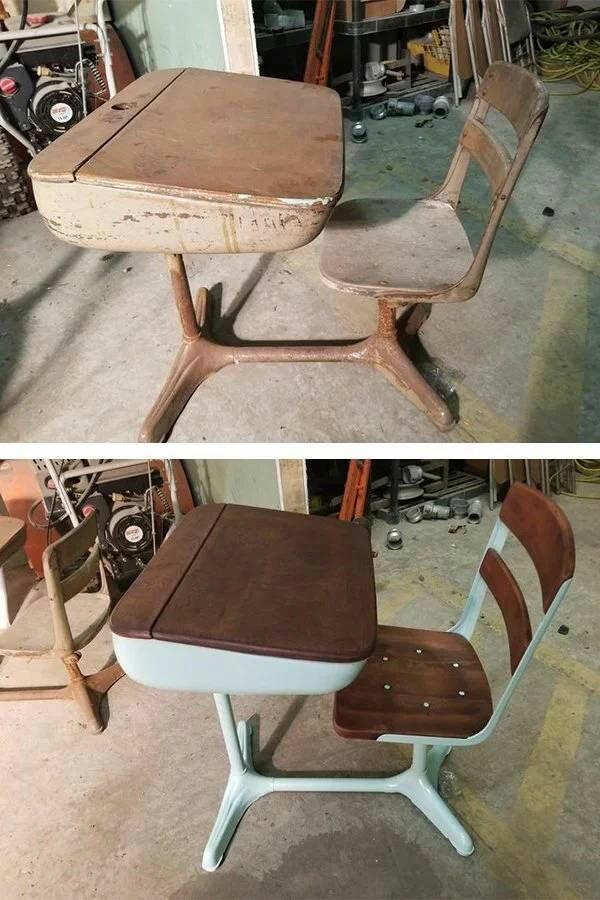 Старые вещи до и после реставрации