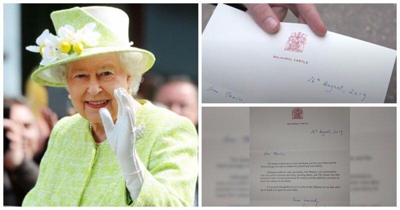 Школьник захотел попрактиковаться в английском и прислал письмо королеве Елизавете II. Она ответила