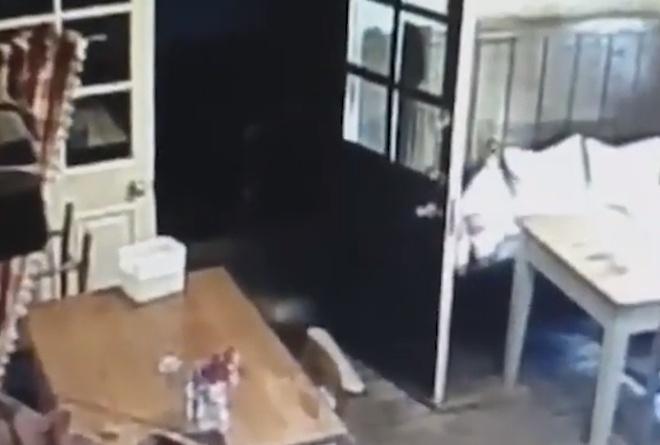 На камеру наблюдения попал призрак маленькой девочки