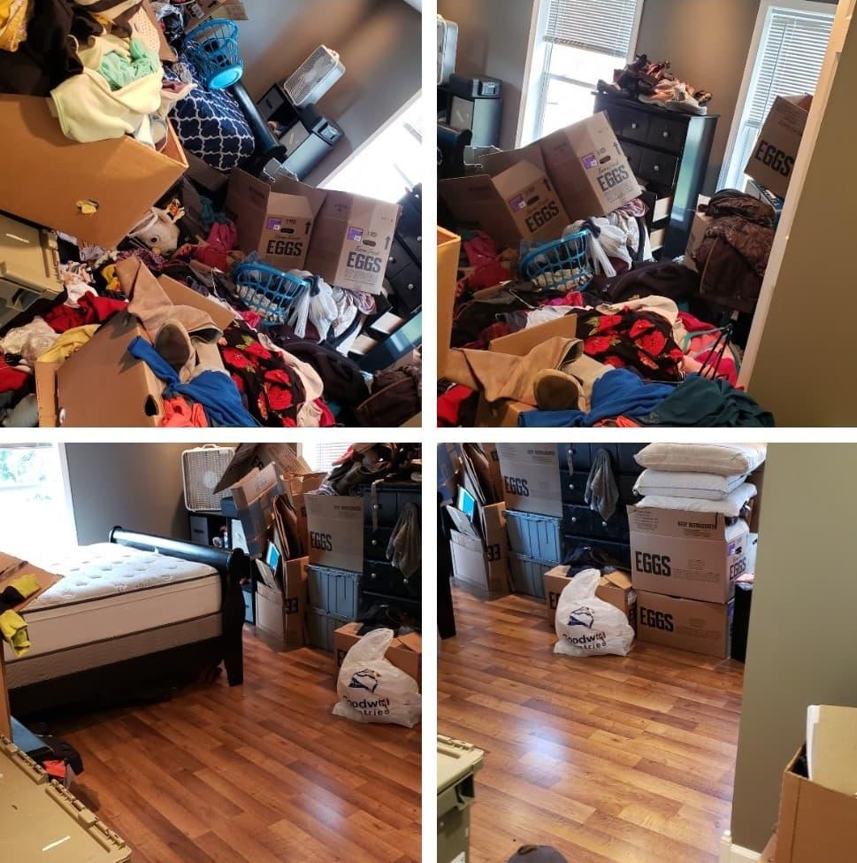 Люди не убирались в комнатах несколько месяцев, но затем взяли себя в руки