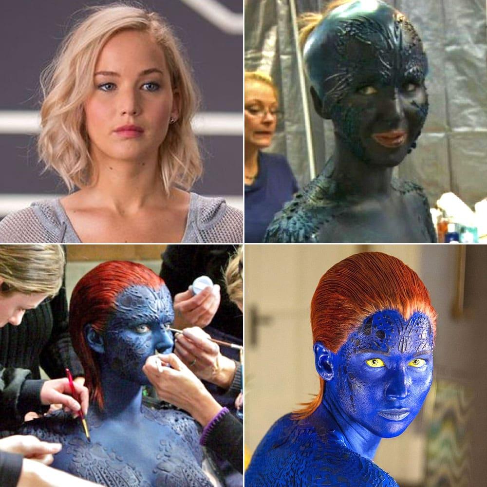 Фотографии, показывающие процесс перевоплощения актеров в их персонажей